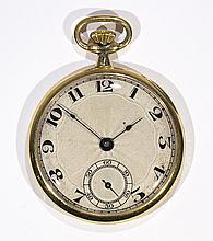 Audemars Piguet & Co. 18k yellow gold open face pocket watch, circa 1935