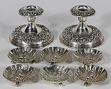 S.Kirk & Son sterling silver repousse table accessories, 6.23 troy oz.