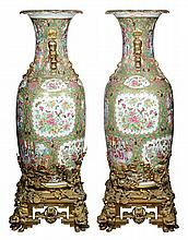 Two Chinese Large Export Vases