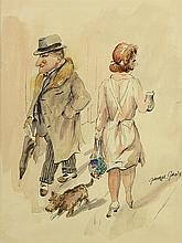 Watercolor and Ink, George Grosz