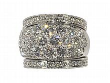 Diamond, platinum and 18k white gold ring
