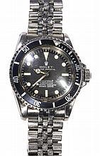 Gentleman's Rolex Submariner, ref. 5512, circa 1967, inside case back 5513