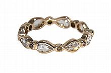 Diamond and 14k rose gold eternity band