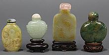 Four Chinese Jade Snuff Bottles