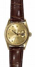 Gentleman's Rolex Datejust diamond and 18k yellow gold wristwatch, Ref. 16018, circa 1991