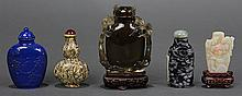 Five Chinese Stone Snuff Bottles