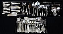 (lot of 89) American sterling silver flatware service for eight by Alvin in the