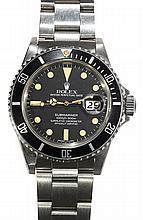 Gentleman's Rolex Submariner stainless steel wristwatch, ref. 16800, circa 1981