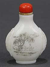 Chinese White Glass Snuff Bottle
