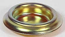American iridescent art glass gold aurene bowl, having a flared rim, underside signed