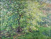 Painting, Alfred Juergens, The Crab Apple Tree, Thomas Hill, $1,500