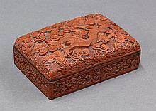 Chinese Cinnabar Rectangular Box