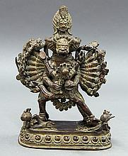 Sino-Tibetan Bronze Yamantaka Father-Mother