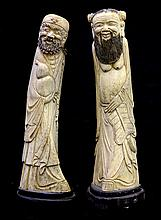 Chinese Bone Carvings of Immortals