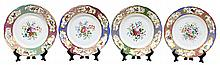 (lot of 6) Russian porcelain plates from the Grand Duke Mikhail Pavlovich service