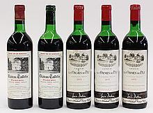 (lot of 5)  French Bordeaux wine group