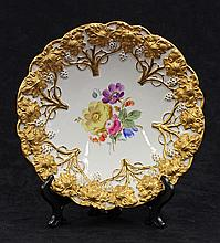 Meissen partial gilt and polychrome decorated bowl