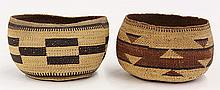(lot of 2) North West California Native American baskets