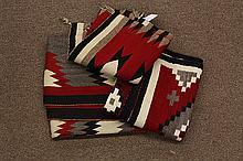 (lot of 3) Native American Ganado (Navajo) blankets
