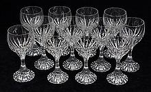 (lot of 12) Baccarat crystal Massena pattern red wine glasses, 7