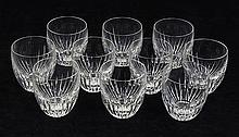 (lot of 10) Baccarat crystal Massena pattern tumblers, 3