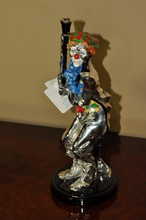 ITALIAN CLOWN RIDDING CART STERLING SILVER OVERLAY 11