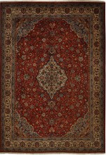 IRAN SAROUK ORIENTAL RUG,  8-4 X 11-8, 100% WOOL, HAND WOVEN & HAND KNOTTED