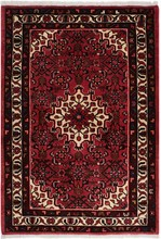 IRAN HOSSEINABAD ORIENTAL RUG, 3-7 X 5-1, SILK & WOOL, HAND WOVEN & HAND KNOTTED