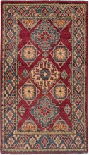 PAKISTAN KAZAK ORIENTAL RUG, 2-2 X 3-10, 100% WOOL, HAND WOVEN & HAND KNOTTED