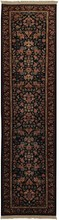 KASHAN DESIGN ORIENTAL RUG, 2-3 X 10-0, SILK & WOOL, HAND WOVEN & HAND KNOTTED