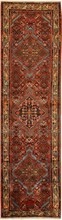 IRAN HAMEDAN ORIENTAL RUG, 2-7 X 9-11, 100% WOOL, HAND WOVEN & HAND KNOTTED