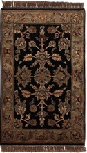 INDIA KHORASAN ORIENTAL RUG, 2-0 X 3-2, 100% WOOL, HAND WOVEN & HAND KNOTTED