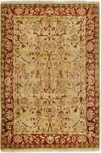 INDIA AGRA ORIENTAL RUG, 6-2 X 9-0, 100% WOOL, HAND WOVEN & HAND KNOTTED