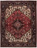 IRAN HERIZ ORIENTAL RUG,  5-2 X 6-7, 100% WOOL, HAND WOVEN & HAND KNOTTED