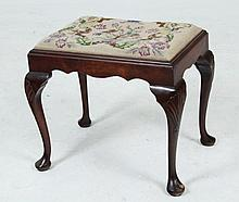 ENGLISH QUEEN ANNE STYLE WALNUT STOOL