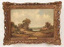 A.H. VICKERS, 19TH C. OIL ON CANVAS LANDSCAPE PAINTING