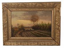 J. DE HERDER, 19TH C. PROVINCIAL STYLE OIL ON CANVAS PAINTING
