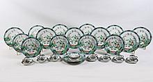 37 PIECE LOT OF CROWN STAFFORDSHIRE MADE FOR TIFFANY