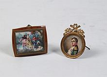 MISCELLANEOUS LOT OF 2 SIGNED FRENCH MINIATURES