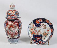 2 PIECE MISCELLANEOUS LOT OF JAPANESE IMARI PORCELAIN