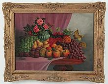 G. ALLMAN, ENGLISH OIL ON CANVAS STILLIFE PAINTING