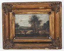 19TH C. CONTINENTAL OIL ON CANVAS PAINTING