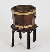 GEORGE III OCTAGON SHAPED AND BRASS BOUND PLANTER