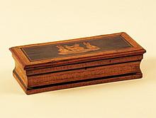 FINE PENWORK INLAID CIGAR BOX