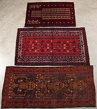 GROUP OF 3 ORIENTAL SCATTER RUGS