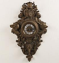 FRENCH BRONZE HUNTSMAN CARTEL CLOCK