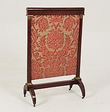FRENCH REGENCY MAHOGANY FIRE SCREEN