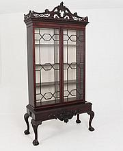 IMPRESSIVE ENGLISH CHIPPENDALE DISPLAY CABINET