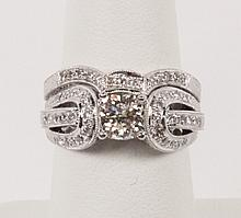 18K WHITE GOLD 2 PIECE DIAMOND WEDDING SET