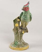 ITALIAN FIAENCE FIGURE OF A PARROT